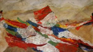 Del 063 Prayer flags at the pass, 2010 , 93 cm x 160,5