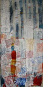 Del 027 Prayer flags prayer flags vertical, 2009, mix med on canvas, 180 cm x 90