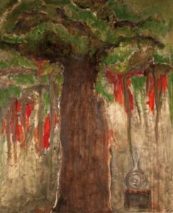 Del 051, Sacred Tree, 2009, mix med on canvas,132cmx 111,5